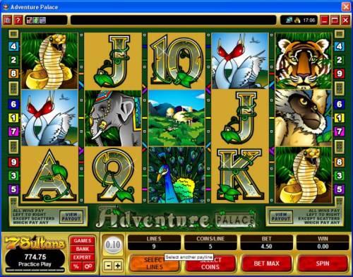 Adventure Palace review on Big Bonus Slots