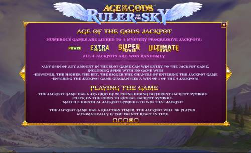Age of the Gods Ruler of the Sky review on Big Bonus Slots