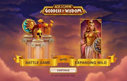 Age of the Gods Goddess of Wisdom Big Bonus Slots Battle Game with Expanding Wilds