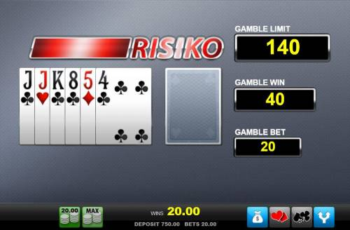 Agent Istanbul Big Bonus Slots Risiko Gamble Feature - choose the color of the next card drawn. You can bet on red or black with the corresponding buttons.