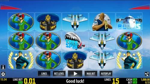 Air Force Big Bonus Slots Main Game Board