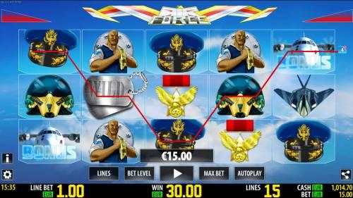 Air Force Big Bonus Slots A winning three of a kind