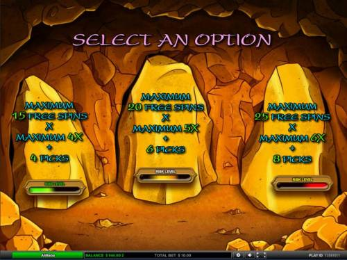 Ali Baba Big Bonus Slots select a free spins bonus option