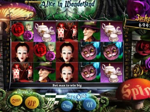 Alice in Wonderland review on Big Bonus Slots