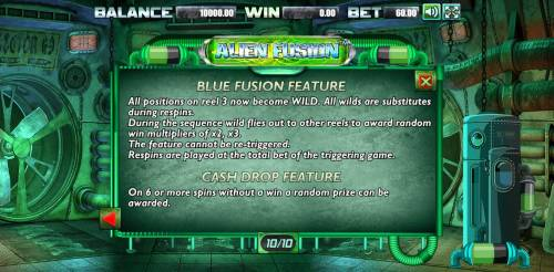 Alien Fusion Big Bonus Slots Blue Fusion Feature Rules