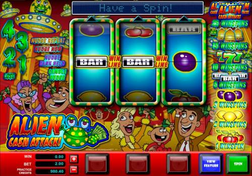 Alien Cash Attack review on Big Bonus Slots