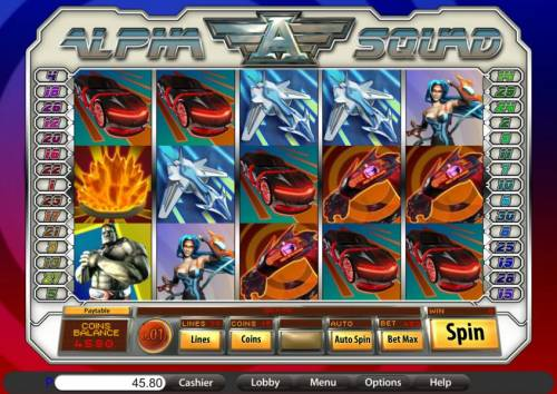 Alpha Squad review on Big Bonus Slots