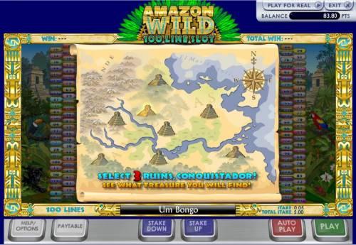 Amazon Wilds 100 Line Slot Big Bonus Slots select three ruins to reveal your prize.