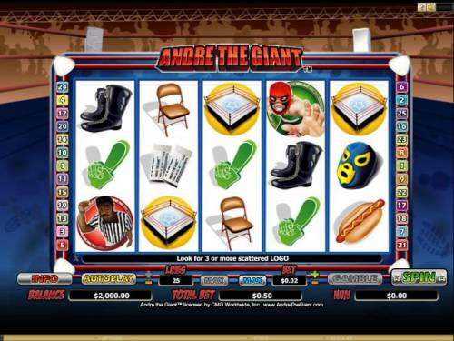 Andre the Giant review on Big Bonus Slots