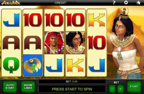 Anubix Big Bonus Slots Main Game Board