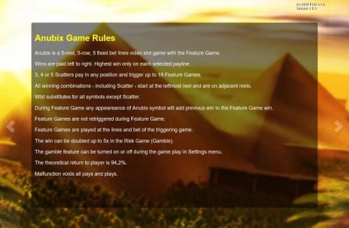 Anubix Big Bonus Slots General Game Rules