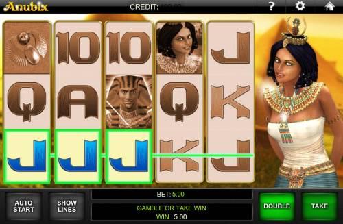 Anubix Big Bonus Slots A winning Three of a Kind