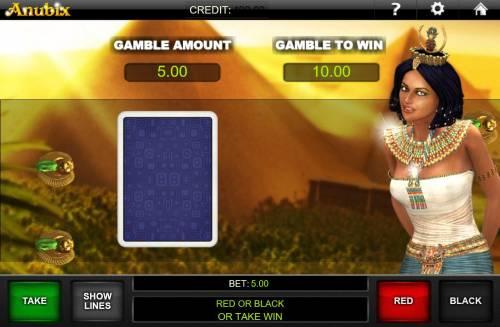 Anubix Big Bonus Slots Gamble Feature Game Board