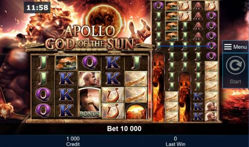Apollo God of the Sun review on Big Bonus Slots