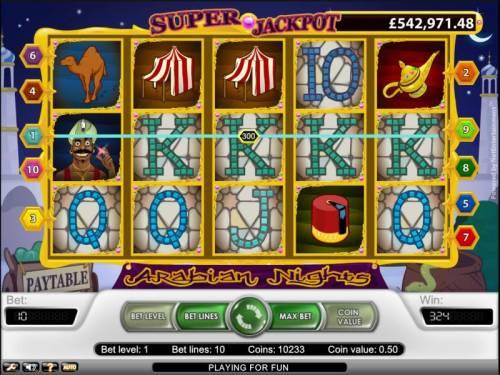 Arabian Nights review on Big Bonus Slots