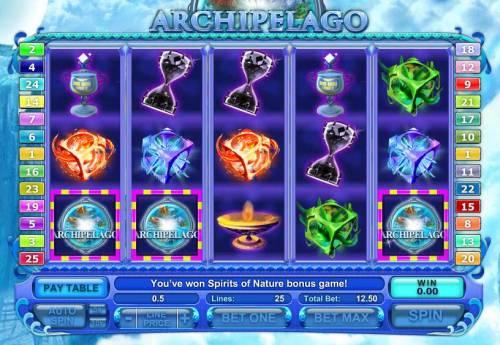 Archipelago Big Bonus Slots three bonus symbols triggers bonus feature