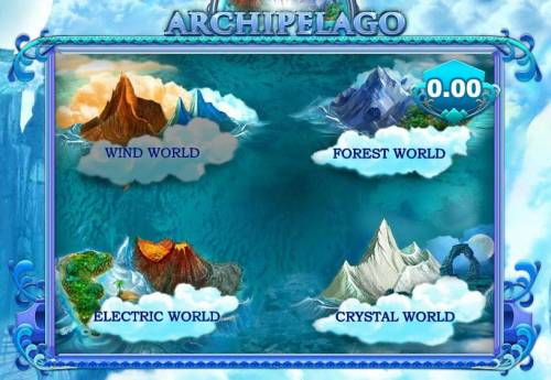 Archipelago Big Bonus Slots bonus feature game board - pick and world to win a prize award