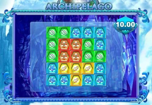 Archipelago Big Bonus Slots bonus feature 2nd level game board - select symbols to reveal a prize award