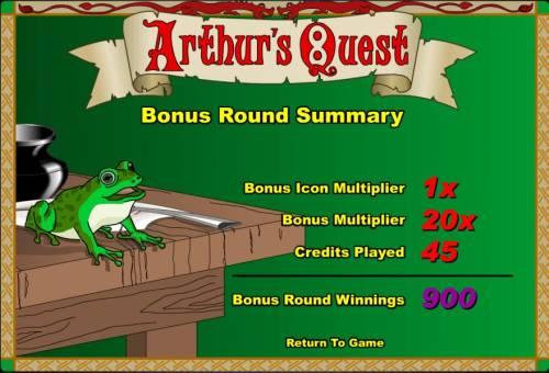 Arthur's Quest review on Big Bonus Slots