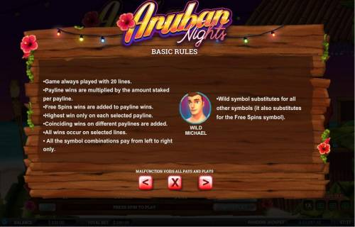 Aruban Nights review on Big Bonus Slots
