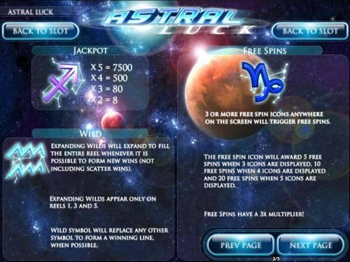 Astral Luck review on Big Bonus Slots
