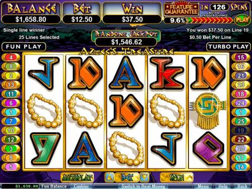 Aztec's Treasure Feature Guarantee review on Big Bonus Slots