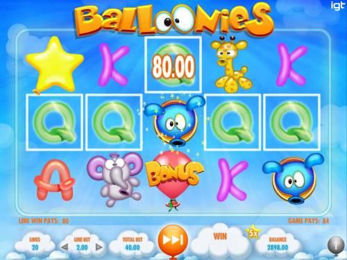 Balloonies review on Big Bonus Slots