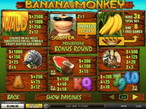 Banana Monkey review on Big Bonus Slots
