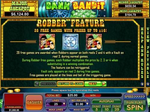 Bank Bandit review on Big Bonus Slots
