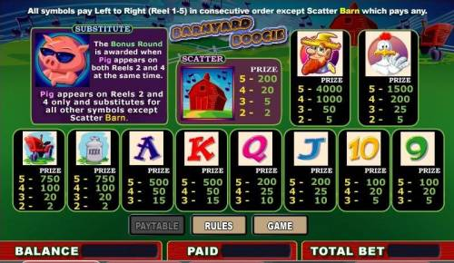 Barnyard Boogie review on Big Bonus Slots