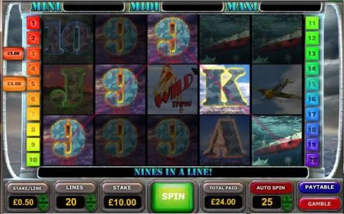 Battle of the Atlantic Big Bonus Slots multiple winning paylines