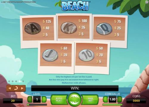 Beach review on Big Bonus Slots