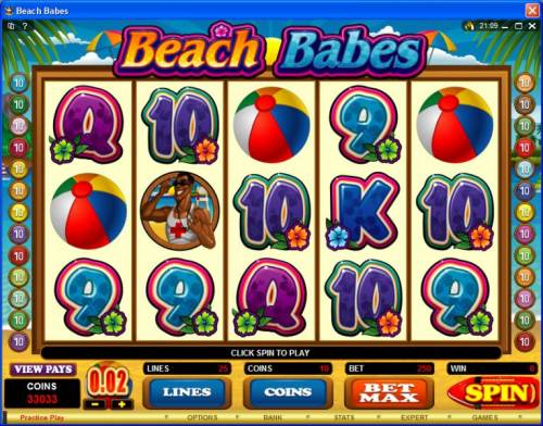 Beach Babes review on Big Bonus Slots