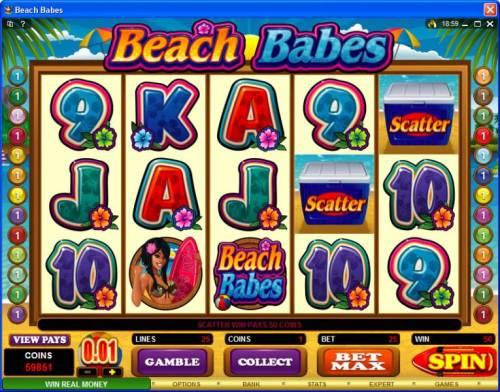 Beach Babes review on Big Bonus Slots