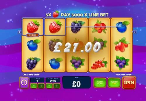 Berry Berry Bonanza Big Bonus Slots Main Game Board