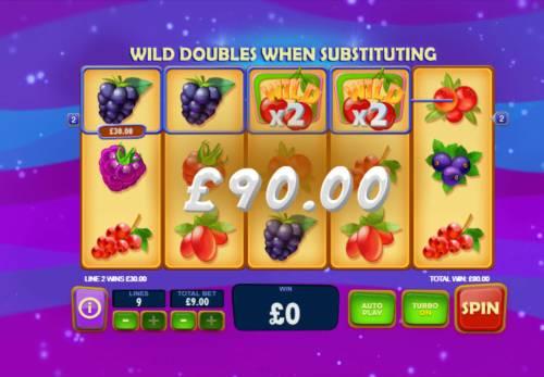 Berry Berry Bonanza Big Bonus Slots Wild Multipliers triggers a big win