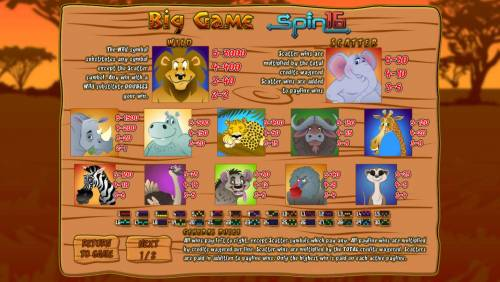 Big Game Spin 16 review on Big Bonus Slots