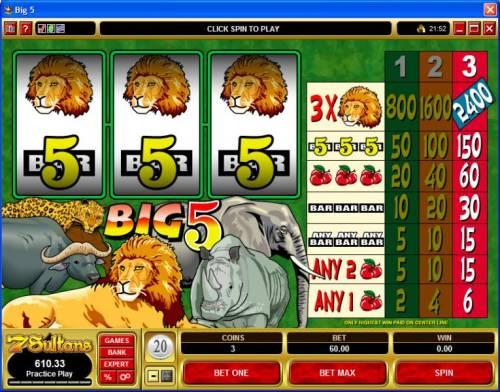 Big 5 review on Big Bonus Slots