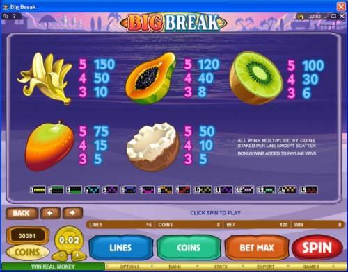 Big Break review on Big Bonus Slots