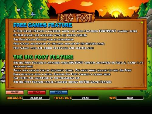 Big Foot review on Big Bonus Slots