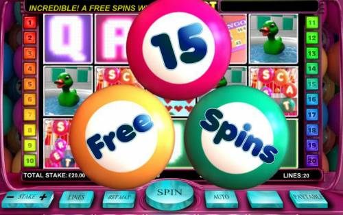 Bingo Slot Big Bonus Slots Three scatter symbols triggers free spins feature