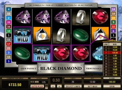 Black Diamond 25 Lines review on Big Bonus Slots