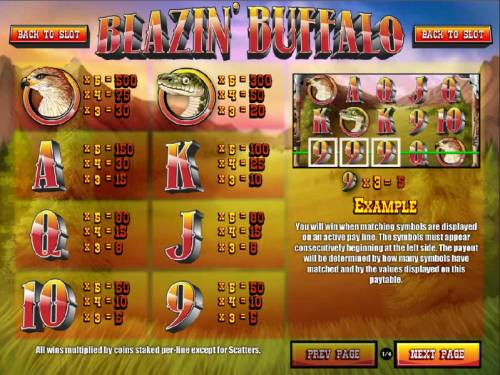 Blazin' Buffalo review on Big Bonus Slots