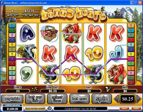 Bonus Bears review on Big Bonus Slots