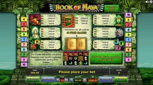 Book of Maya review on Big Bonus Slots