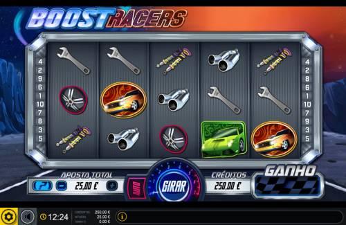 Boost Racers Big Bonus Slots Main Game Board