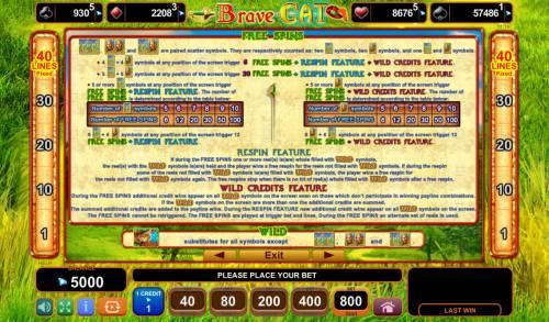 Brave Cat Big Bonus Slots Free Games Bonus Rules