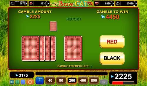 Brave Cat Big Bonus Slots Gamble Feature Game Board
