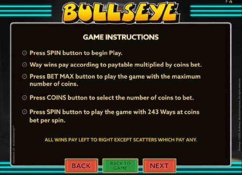 Bullseye review on Big Bonus Slots