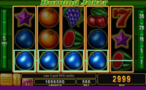 Burning Joker Big Bonus Slots A winning Four of a Kind